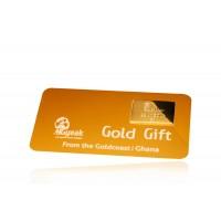 22Kt Gold Gift Card. 5g