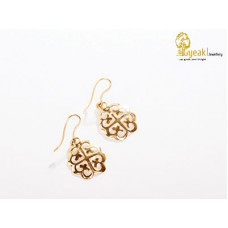 18kt yellow gold Nyame Dua Adinkra Hoop Earrings