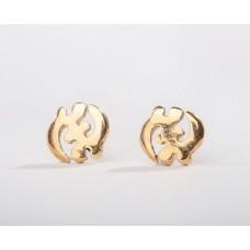 18kt yellow gold Gye Nyame Adinkra Stud Earrings