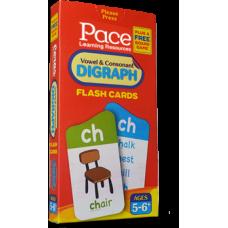 Pace LR Vowel & Consonant Digraph Flash Cards